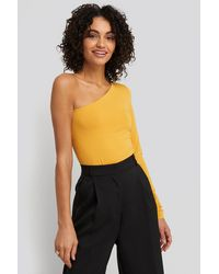 NA-KD Yellow One Shoulder Body
