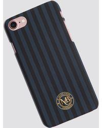 By Malene Birger Pamsy Striped Iphone 7/8 Case Navy Blazer - Blue