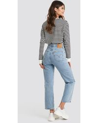 Levi's Blue Ribcage Straight Ankle
