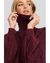 NA-KD - Cable Sleeve Knitted Sweater - Lyst