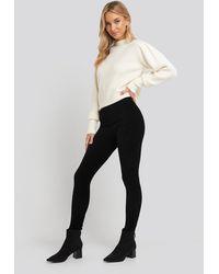 Trendyol Black Corduroy Knitted Tights