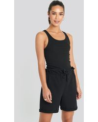 Trendyol Paperbag Shorts - Zwart