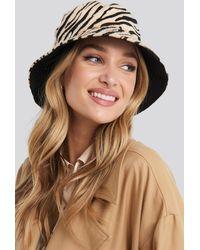 NA-KD Zebra Bucket Hat - Naturel