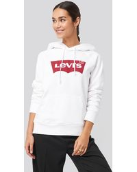 Levi's Graphic Housemark Hoodie - Wit