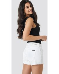 Calvin Klein Mid Rise Weekend Shorts - Wit