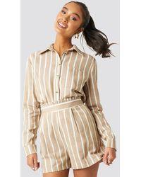 Trendyol Milla Striped Shorts - Naturel