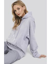 NA-KD Washed Oversized Hoodie - Paars