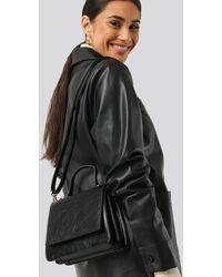 NA-KD Top Handle Mini Trapeze Bag - Zwart