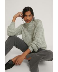 NA-KD Gray Chunky Knitted Sweater