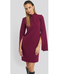 Trendyol Cape Sleeve Mini Dress - Lila