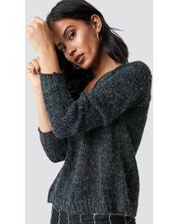 Rut&Circle - Emina V-neck Knit Dk Grey - Lyst
