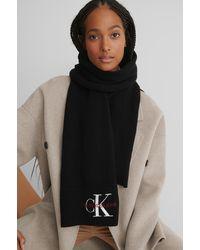 Calvin Klein Gebreide Sjaal - Zwart