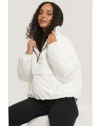 NA-KD White Anorak Padded Jacket
