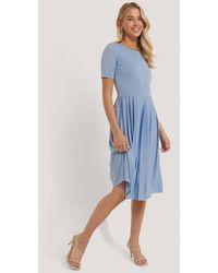 NA-KD Blue Pleated T Dress