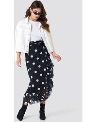 NA-KD Trend Mesh Overlap Maxi Skirt - Schwarz