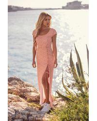 NA-KD Pamela X Reborn Gerecycleerd Maxi-jurk - Roze