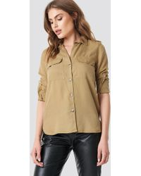 Mango - Roma Shirt Camel - Lyst