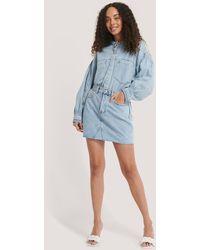 Mango Blue Monica Skirt