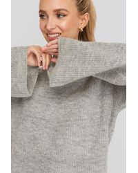 NA-KD - Trend Wool Blend Wide Sleeve Sweater - Lyst