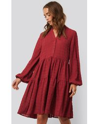 NA-KD Structure A-Line Dress - Rouge