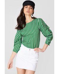 Mango - Frayed Edges Denim Skirt White - Lyst