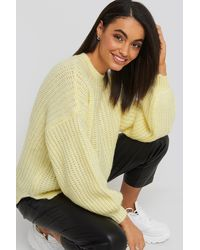 Trendyol Crew Neck Knitted Sweater - Geel