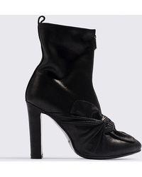 Lavish Alice - Leather Ankle Boots Black - Lyst