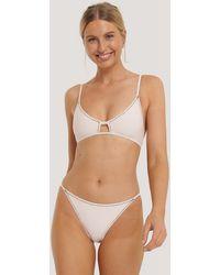 NA-KD Swimwear Bikinibroekje Met Strikken Aan De Zijkant - Roze