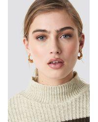 NA-KD Accessories Mini Thick Hoop Earrings - Mettallic