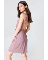 Samsøe & Samsøe - Willow Short Dress Woodrose - Lyst