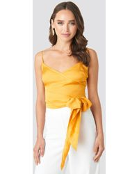 Trendyol Breasted Binding Detailed Blouse Yellow
