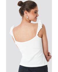 Trendyol Frill Shoulder Top White