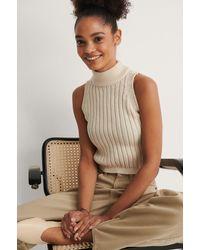 Trendyol Offwhite Turtleneck Knit Top - Natural