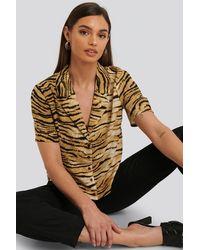 Rut&Circle Multicolor Sofi Camp Shirt - Natural