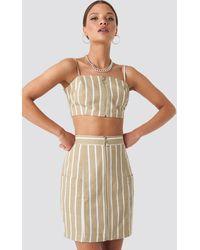 NA-KD Nicci Hernestig x Zipped Skirt - Natur