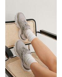 NA-KD Shoes Sneakers Met Luipaarddetail - Grijs