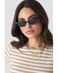 NA-KD Drop Shape Cat Eye Sunglasses Black