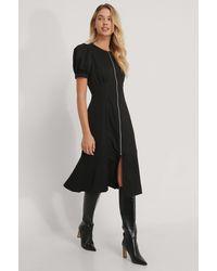 NA-KD Midi-jurk - Zwart