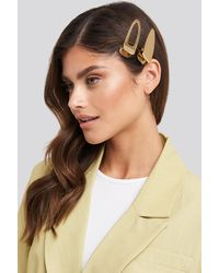 NA-KD - Oversize Metal Hairclips Gold - Lyst