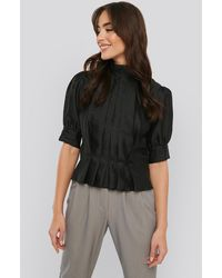 NA-KD - Trend Structured Organza Gathered Blouse - Lyst
