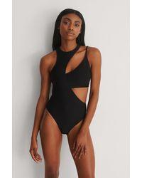 NA-KD Swimwear Recyclé Maillot De Bain À Ornements - Noir