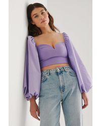 Trendyol Purple Milla Balloon Sleeve Blouse