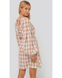NA-KD - Boho Structured Check Dress - Lyst
