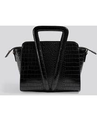 NA-KD Boxy Trapeze Bag Black