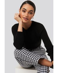 Trendyol Crew Neck Basic Knitted Sweater - Zwart