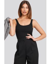 NA-KD - Trend Ribbed Wide Strap Singlet - Lyst