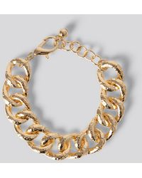 NA-KD Accessories Vintage Look Chain Bracelet - Mettallic