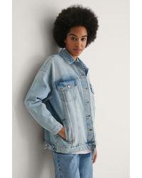 NA-KD Organisch Oversized Jeansjack - Blauw