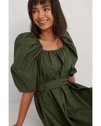 Mango Mini-jurk Met Riem - Groen