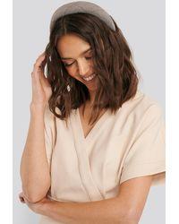 NA-KD Padded Checked Hair Hoop - Bruin